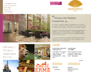 Mandarin Oriental Paris website