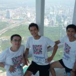 Sutunam finit 3ème à la course verticale Hanoi Vertical Run