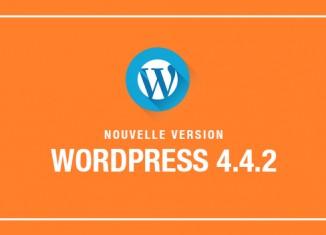 Wordpress Mise à jour 4.4.2