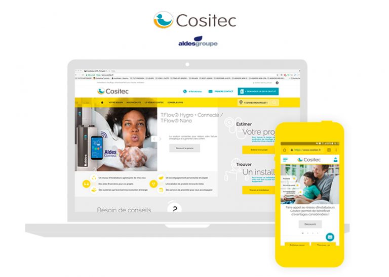 Cositec design pour WordPress